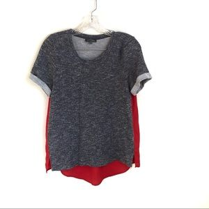 Market and Spruce Knit Hi Lo Top